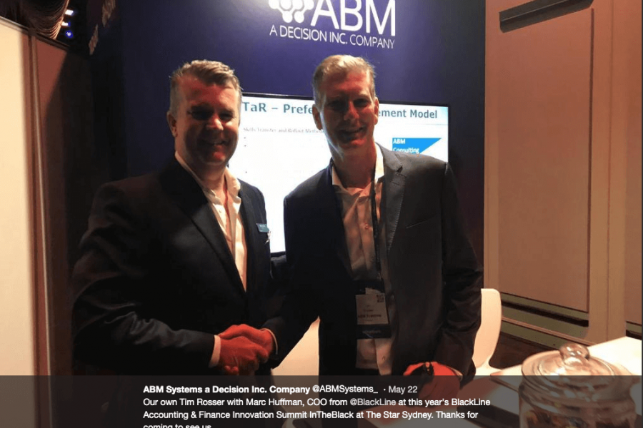 ABM Systems at BlackLine's, InTheBlack, the accounting & finance innovation summit