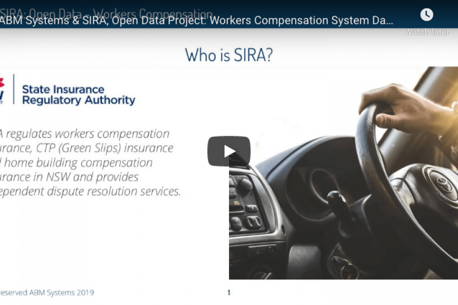 Video: Driving User Experience in transparency project, SIRA Open Data