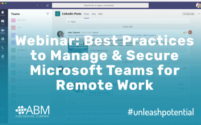 Webinar: Best Practices to Manage and Secure Microsoft Teams for Remote Work :: 29 April 2020
