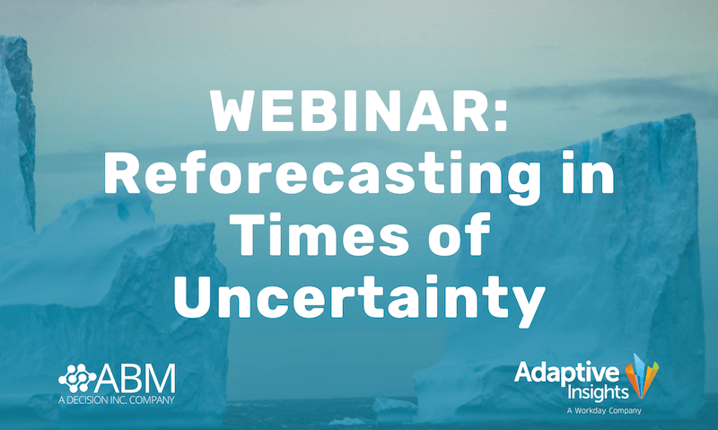 Webinar: Reforecasting in Times of Uncertainty :: 21 May 2020