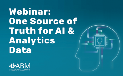 Webinar:  One Source of  Truth for AI &  Analytics  Data :: 4 June 2020